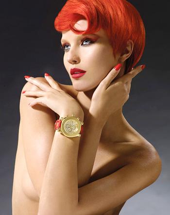 אדום אש - קאשיה שוון לשעוני Emboss