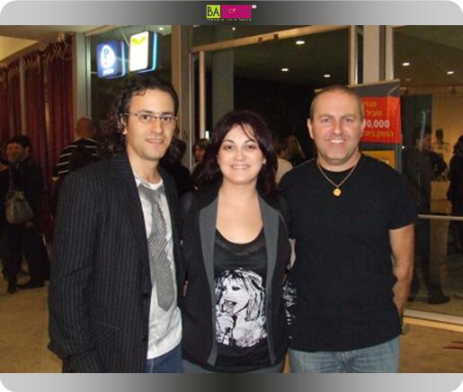 איציק ואנג'לה טטרו יחד עם שניר כחלני עורך פרופאשן ומגזין לה ז'ורנל. צילום: בראש - פורטל יופי ישראלי.