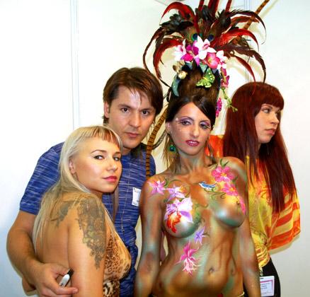 דוד יושבייב, אליסה מושקוביץ' וציור הגוף המנצח.