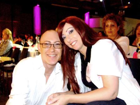 סימונה שויקי ואנטוני באקלי. צילום: פורטל היופי הישראלי-בראש.