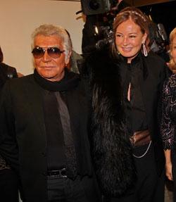 רוברטו קוואלי עם אשתו אווה בפתיחת שבוע האופנה בתל אביב