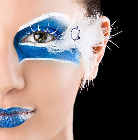 עצמאות 2010 - מראה איפור כחול לבן. שלי אגמי.