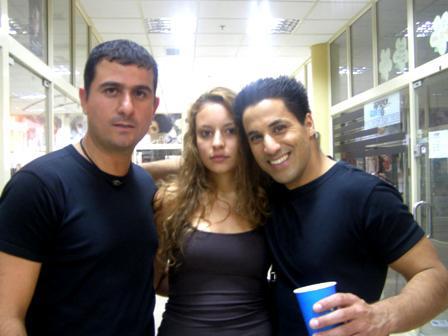 יוסטייל שחר חסון וג'ולי הדוגמנית בצילומים לתכנית של שלום אסייג