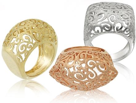 תכשיטים - טבעות תחרה - תכשיטי קורל
