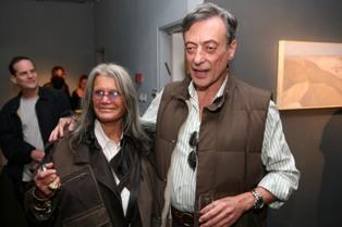 רוני פורר והאמנית אילנה גור