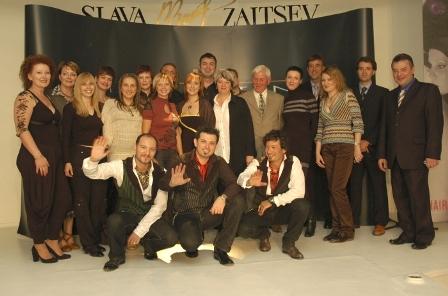 מימין יגאל גוט ראובן טפר ומיטש להייר קולג באירוע במוסקבה