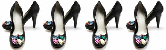ניין ווסט - נעלי בובה מעוטרות באבנים לסילבסטר