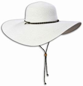 """כובע קש רחב שוליים של קולומביה 179.90 ש""""ח. צילום: רון גרין"""