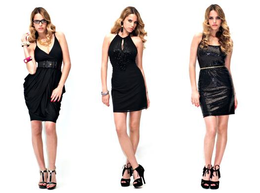 לוצ'י - שמלה שחורה ומטריפה.