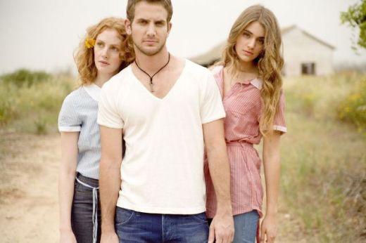 ג'ינס רנגלר - כחול, אדום, לבן