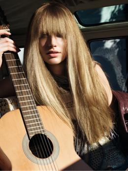 שיער ארוך - מראות שיער סתיו חורף 2009/10 לוריאל