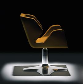 ריהוט למספרות - כיסא מספרה. באדיבות: יניב שושן.