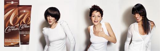 מיס כרמן - צבע לשיער. יוג'ין פרמה קו מוצרי עיצוב וטיפוח לשיער.