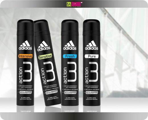 adidas מציגים את Action 3 הדור החדש של הדאודוראנטים לגבר