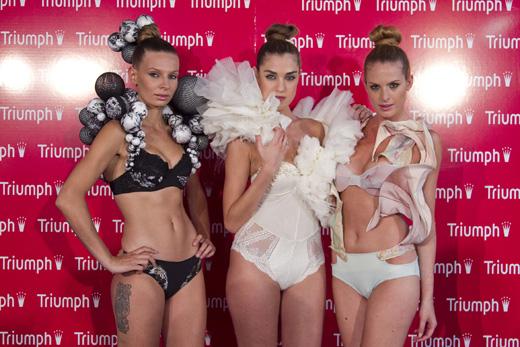 תחרות הלבשה תחתונה - טריומף בשיתוף שנקר - 3 הדגמים הזוכים. צילום: לם וליץ סטודיו.