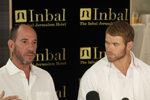 קלן לוץ ומיגאל פרר במלון ענבל בירושלים