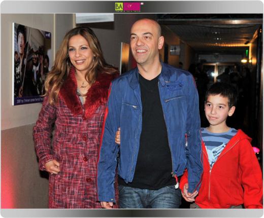 פבלו רוזנברג עם הבן ושרון חזיז