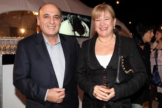 שאול מופז ואשתו - אינפיניטי של סלבס. צילום: איציק בירן.