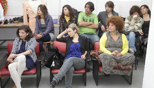 קרולינה, נינט, אפרת גוש ותלמידי שנקר. MTV - שנקר. צילום: רפי דלויה.