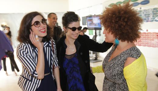 קרולינה, נינט ואפרת גוש. MTV - שנקר. צילום: רפי דלויה.
