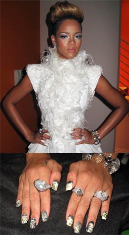 קישוטי ציפורניים הוליוודים, ריהאנה. צילום: Kimmie Kyees.