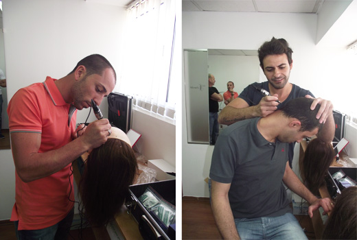 מיקי אוחיון, אריה ישראלי ואבי וקנין - סיימו קורס הדמיית זקיקי שיער