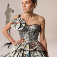 תערוכת נייר-אופנה של שנקר מגיעה לקריון