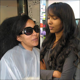 מהפך חגיגי – החלקת שיער מקורזל