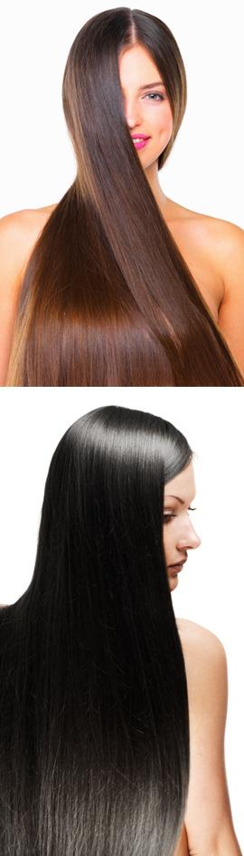 החלקה יפנית - מחליקים את השיער