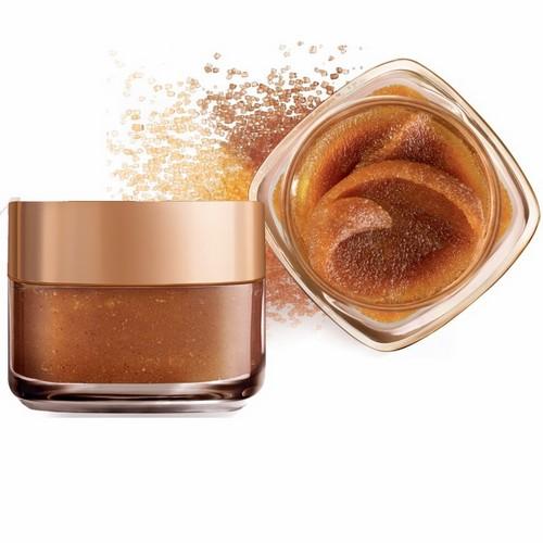 SMOOTH SUGARS לוריאל פריז 59.90שח צילום יחצ חול פילינג סוכר עם תמציות זרעי ענבים, למראה עור זוהר GLOW SCRUB (זהוב) – (2)