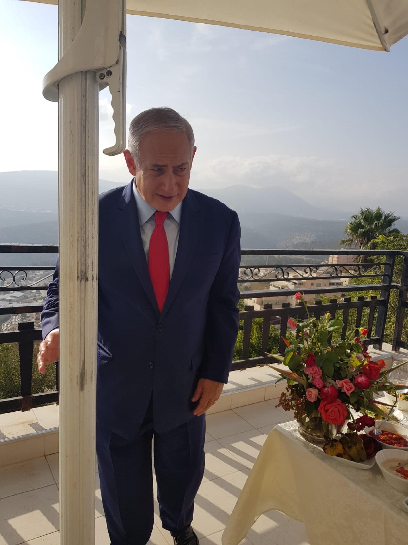 בנימין נתניהו במלון רות רימונים צפת. צילום אסף לוי