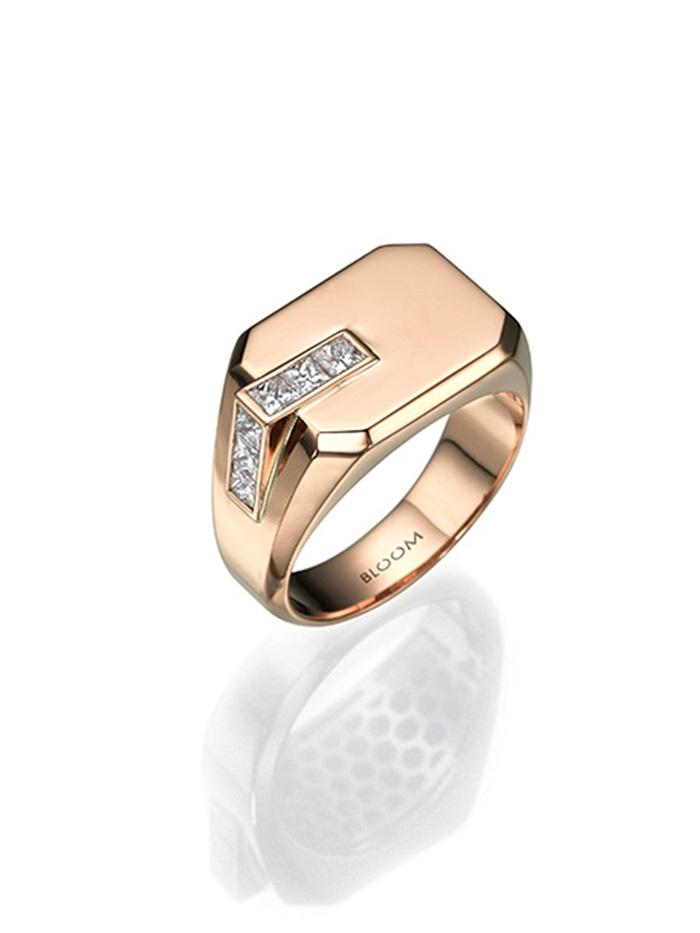 טבעת חותם זהב ויהלומים, 7700 שח, להשיג ב- BLOOM תכשיטי יוקרה יחצ