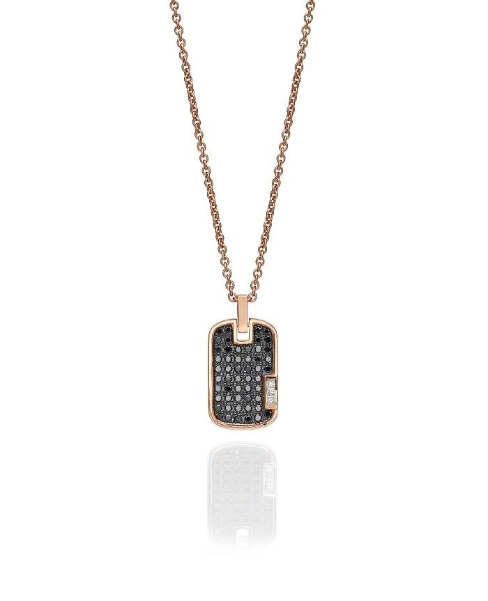שרשרת תליון מזהב ורוד בשיבוץ יהלומים, 8750 שח, להשיג ב- BLOOM תכשיטים, יחצ