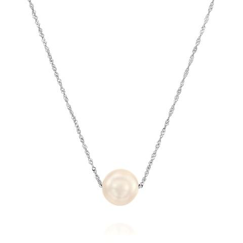 125K-N01628w אימפרס - שרשרת זהב לבן משובץ פנינה  ב590שח במקום 1298שח. צילום- יחצ