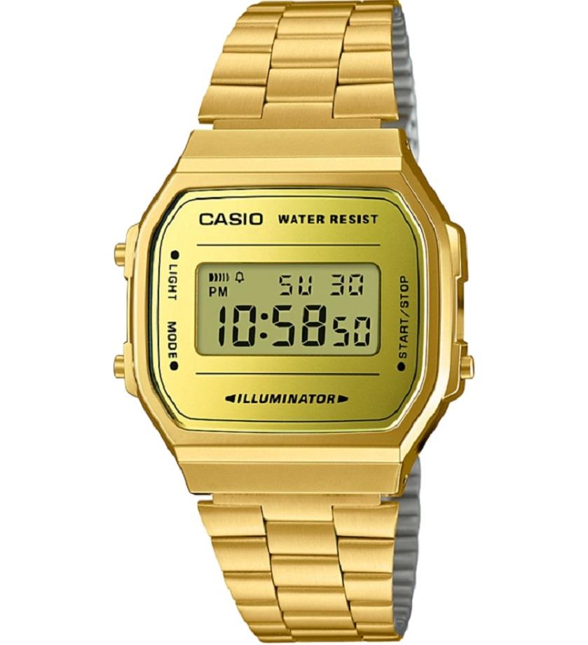 שעון קסיו עיצוב רטרו בזהב ,  , להשיג בחנויות השעונים המובחרות ובאתר קסיו ישראל casio.t-and-i.co.il, יחצ חול