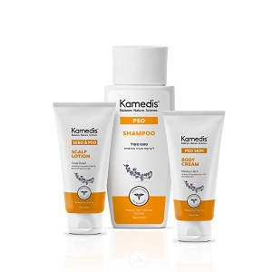 kamedis_pso_cream_shampoo_scalp שלישיית פסו של קמדיס לרכישה ביחד לאחר הנחה 149.80 שח באתר קמדיס צילום יחצ
