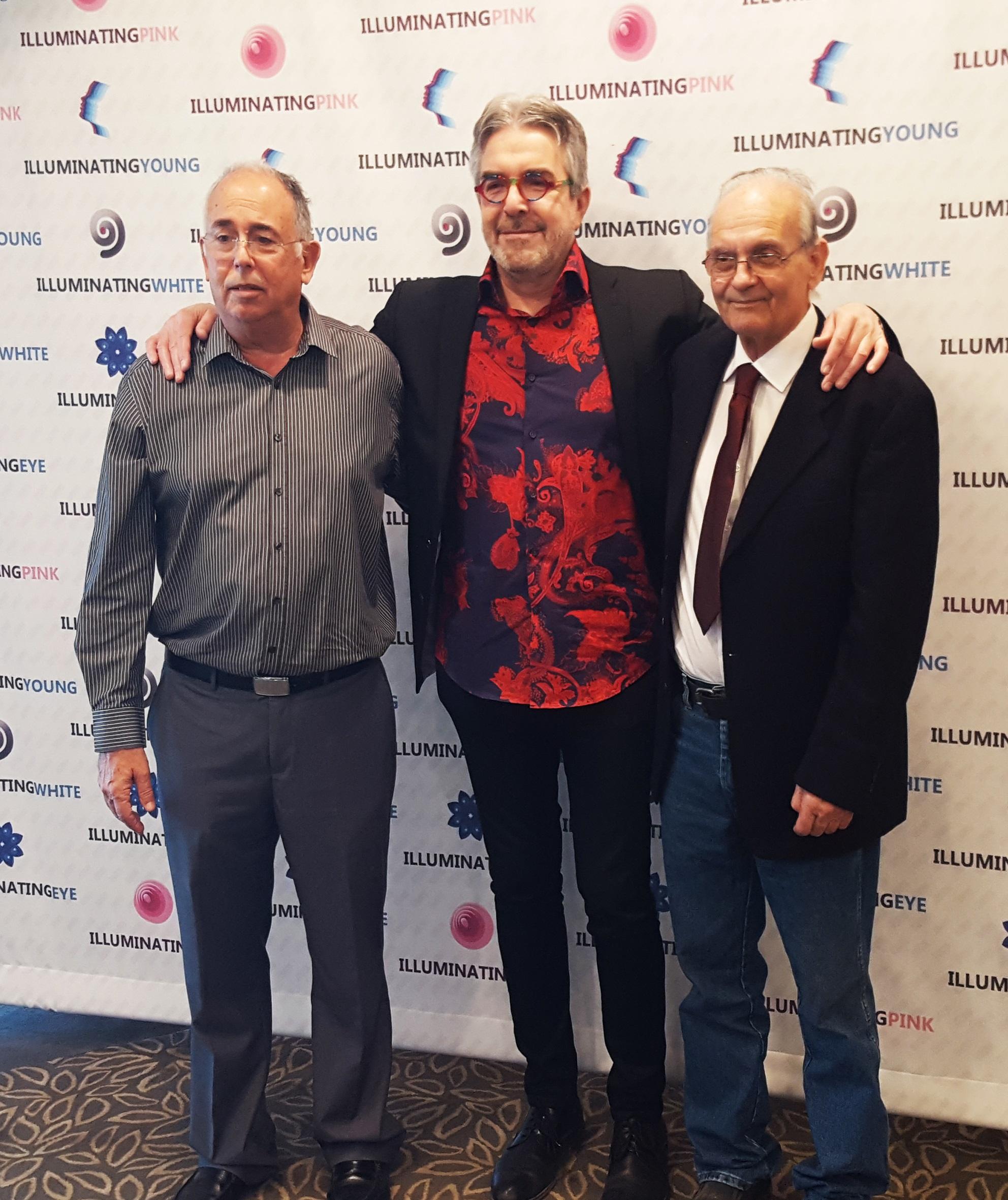 דר יואל קוניס דר' צחי שלקוביץ ופרי עגור קברניטי המותג הבינלאומי אילומינייטינג צילום אורן יגודה