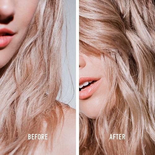 """לפני ואחרי - מותג השיער היוקרתי קרסטס משיק סרום לילה לשיער (צילום חו""""ל)"""